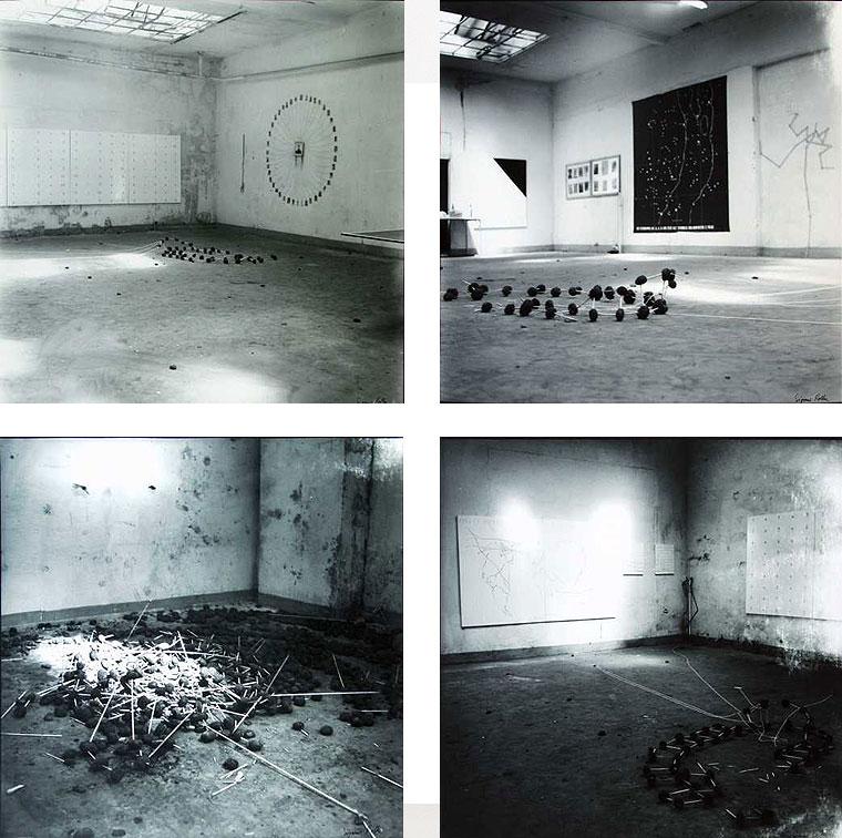 Sigmar Polke, ohne Titel, 4 s/w Fotografien (Galerie Rudolf Zwirner, Köln 1969). Erworben 1996