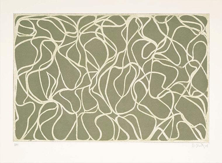 Brice Marden, Greyer Muses, 2001, 2-farbige Radierung, 1-farbige Lithografie, 55,9 x 76,2 cm Erworben 2008