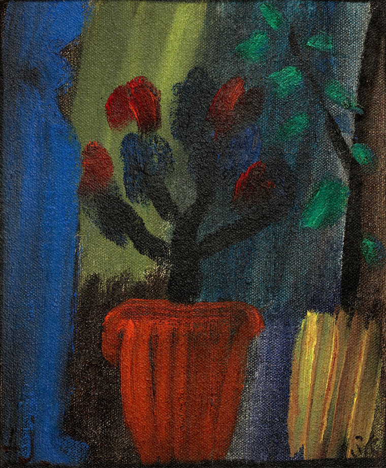 Alexej Jawlensky, Großes Stilleben – Azaleen (Blaugrüner Klang), 1936, Erworben 2015