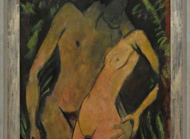 Otto Mueller (1874–1930), Liebespaar, 1917/19, Öl auf Rupfen, Museum Wiesbaden, erworben 1954