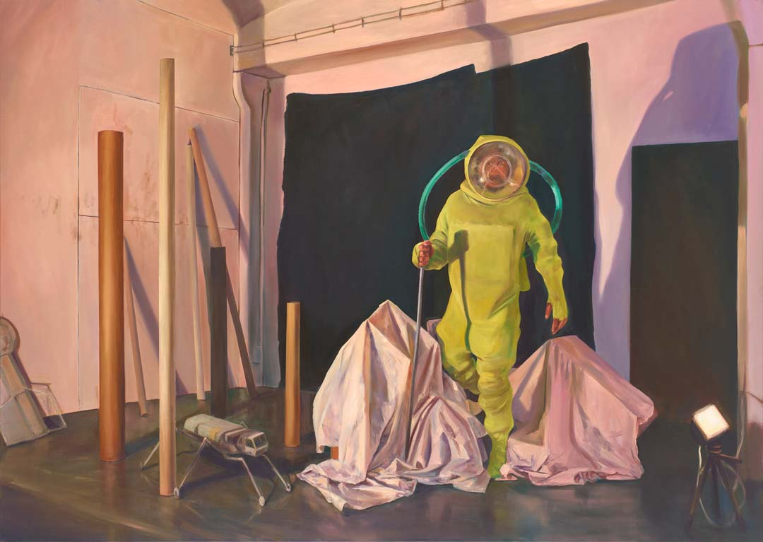 Sebastian Meschenmoser, Berg, 2017. Galerie Greulich, Frankfurt am Main