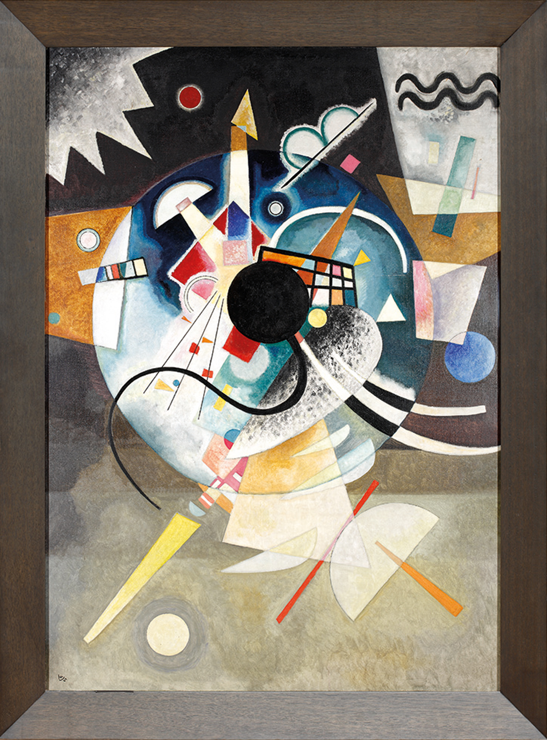 Wassily Kandinsky, Ein Zentrum, 1924, Gemeentemuseum Den Haag, Niederlande