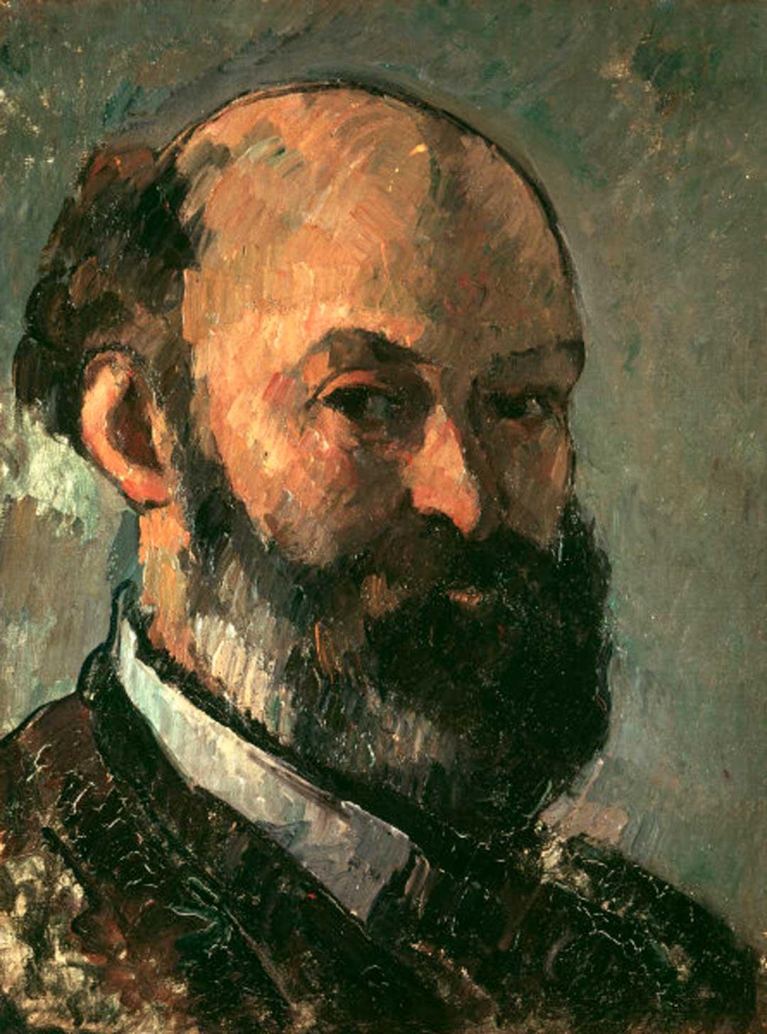 Paul Cézanne: Selbstbildnis, um 1880, Stiftung Oskar Reinhart Winterthur; aus: Steven Platzman, Cézanne – the self-portraits (London: Thames & Hudson, 2001), S. 16