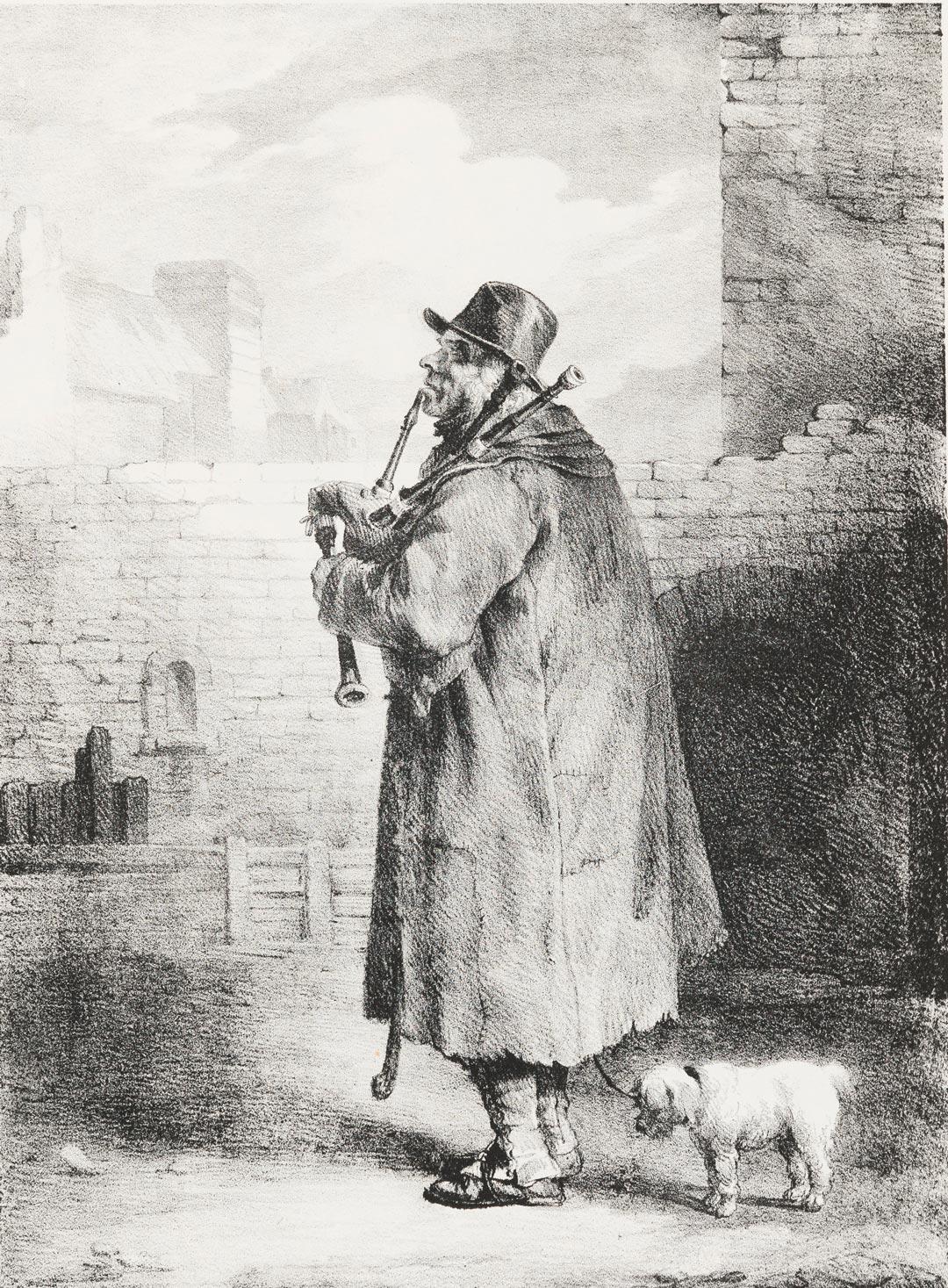 Théodore Géricault, Der Dudelsackpfeifer, 1821, Privatsammlung (Foto: Museum Wiesbaden/Bernd Fickert)