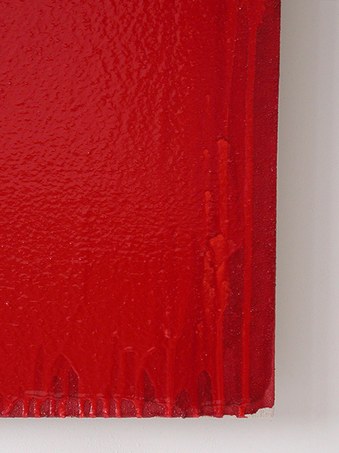 Joseph Marioni, Red Painting (Detail), 2006. Von der Heydt-Museum, Wuppertal © Joseph Marioni