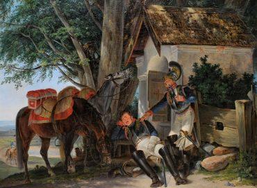 Dietrich Monten, Heißer Manövertag, 1835, Öl auf Leinwand (Foto: Bernd Fickert/Museum Wiesbaden)