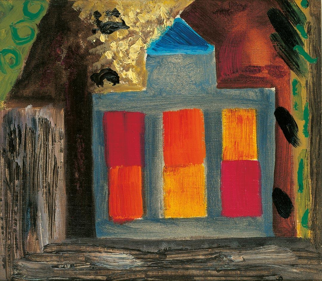 Ida Kerkovius, Haus, 1952, Sammlung Frank Brabant, Wiesbaden