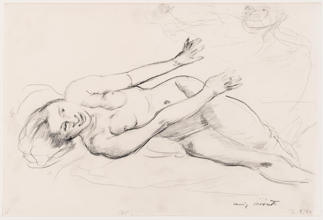 """Lovis Corinth, Entwurf zu """"Potiphar und Josef"""", 1914, Bleistift auf Aquarellkarton (Foto: Museum Wiesbaden/ Bernd Fickert)"""