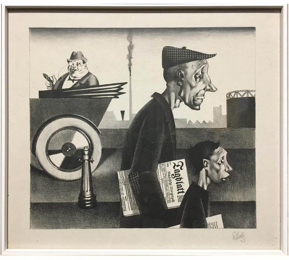 Geht eine Weile nach Berlin: Der Zeitungsausträger von Georg Scholz (Foto: Ingeborg Salm-Boost)