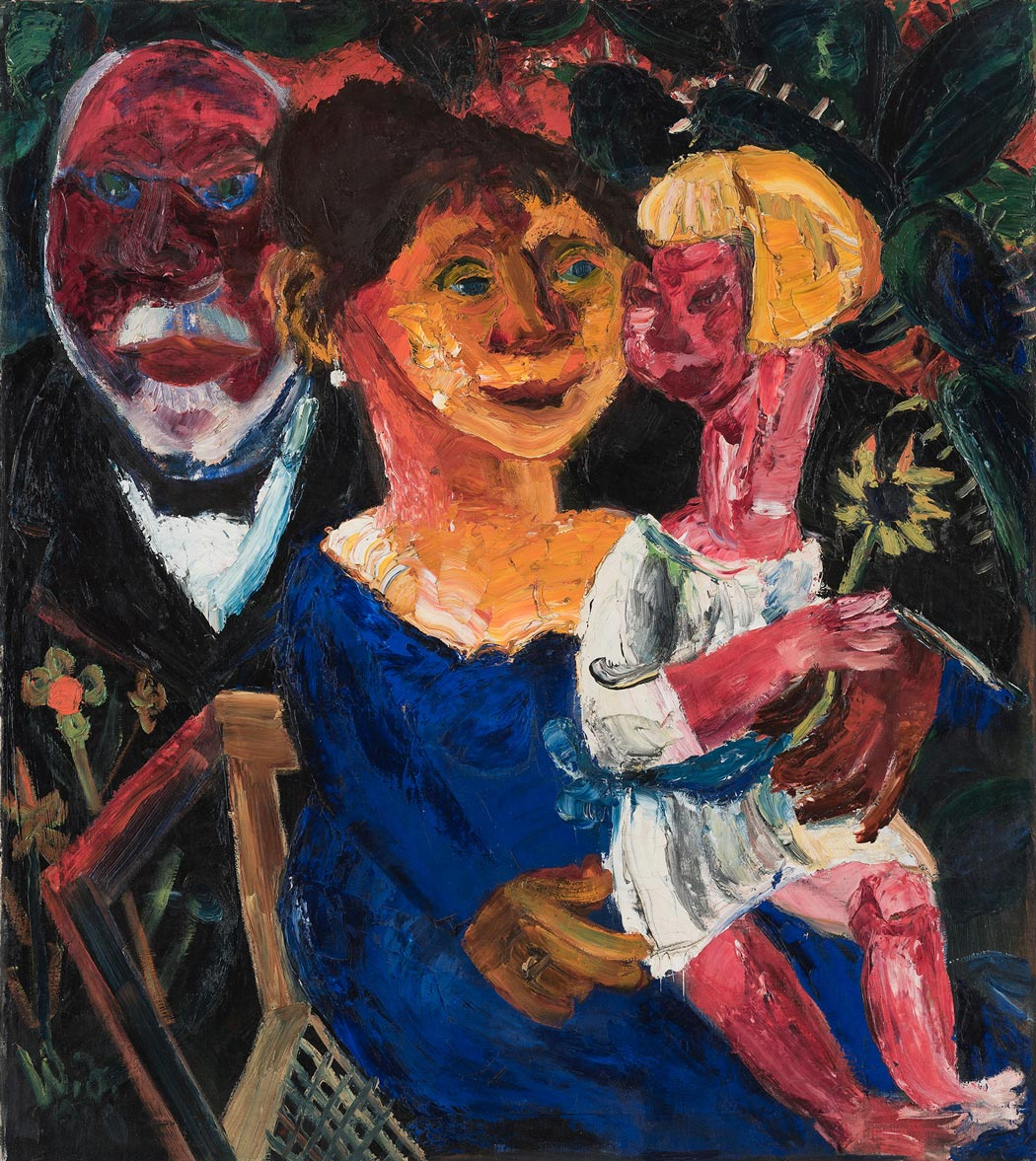 "Walter Jacob ""Die Familie Kirchhoff"", 1920, Öl auf Leinwand (Foto: Museum Wiesbaden/ Bernd Fickert)"