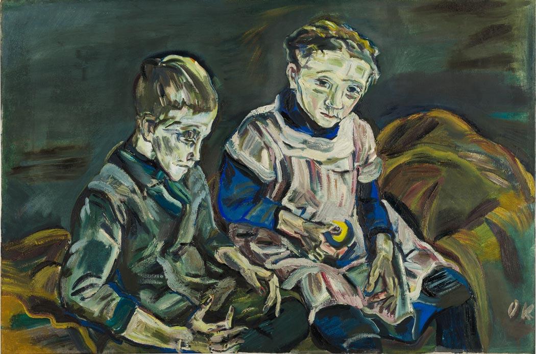 "Oskar Kokoschka ""Die Geschwister"", 1914, Öl auf Leinwand; Oskar Kokoschka © Fondation Oskar Kokoschka / VG Bild-Kunst, Bonn 2018"