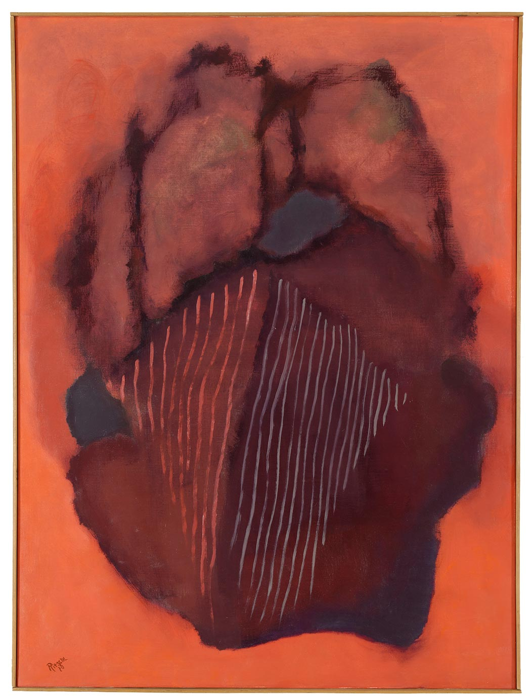 Otto Ritschl: Dreißigstes Bild aus dem Jahr 1970, Spätwerk, Werkverzeichnis des Museumsvereins Ritschl e.V., Verlag Hirmer