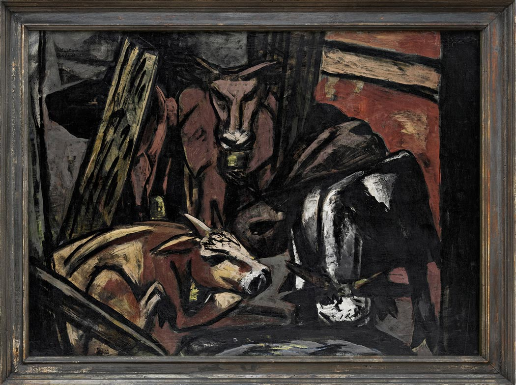 Ochsenstall: Dieses Bild von Max Beckmann, das zu Hanna Bekkers Sammlung gehört, hat eine ganz besondere Aussage. Es ist eine Dauerleihgabe des Vereins zur Förderung der Bildenden Kunst in Wiesbaden. (Foto: Museum Wiesbaden/Bernd Fickert)