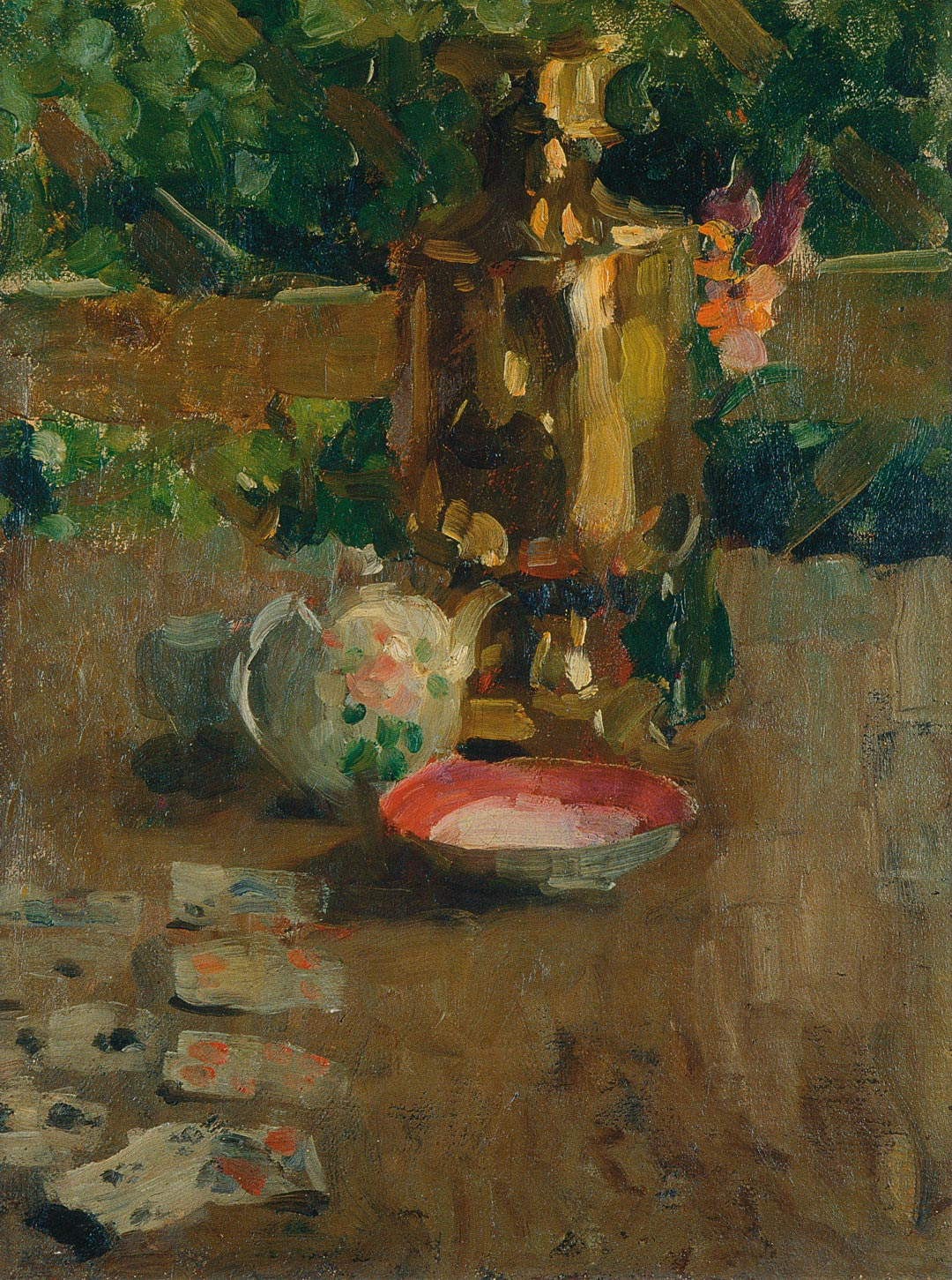 Alexej von Jawlensky, Stillleben mit Samowar, 1901, Museum Wiesbaden. Dank der Museumsgala 2018 kann das Gemälde erworben werden. (Foto: Museum Wiesbaden)