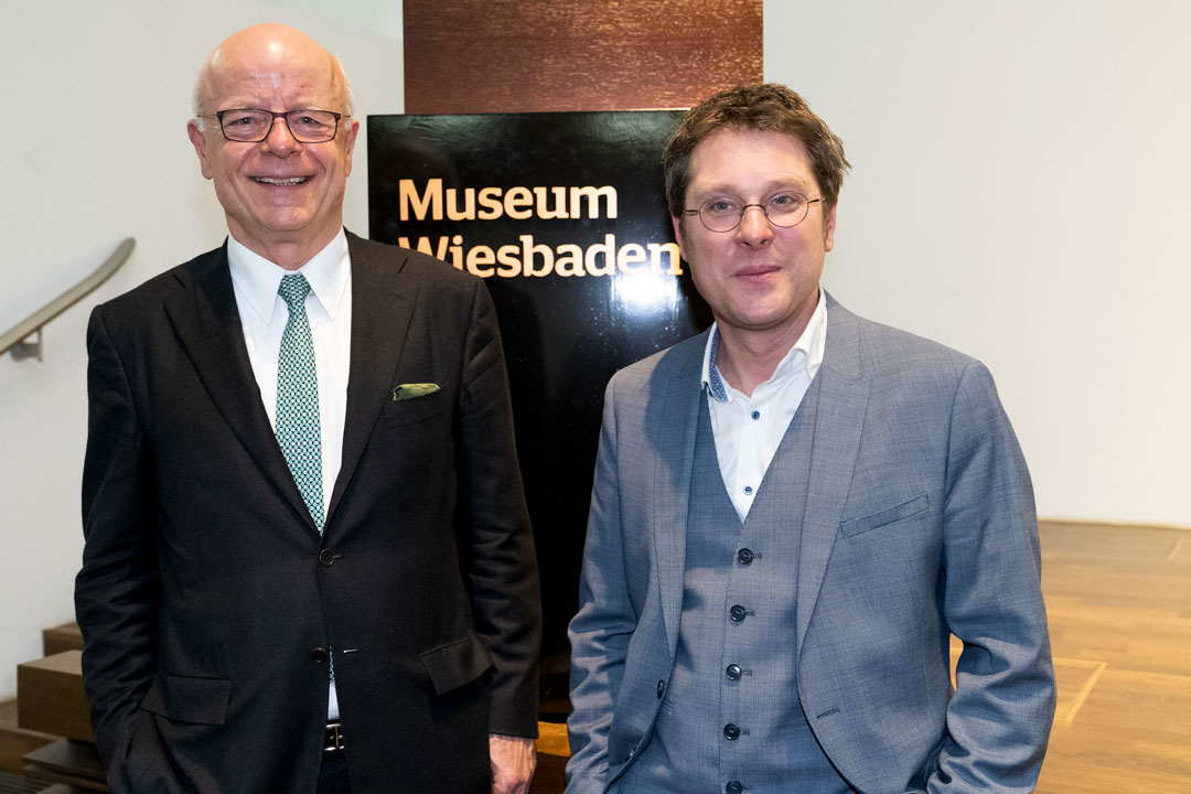 Zwei vom Vorstand freuen sich über den großen Zuspruch: Gerd Eckelmann und Alexander Klar. (Foto: Vera Friederich)