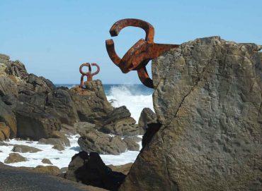 Eduardo Chillida, Peine del viento XV, 1975–1977. San Sebastián © VG Bild-Kunst, Bonn 2018 (Foto: Lea Schäfer)