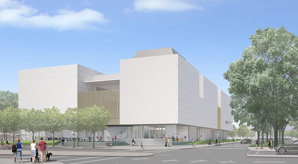 Das Museum Reinhard Ernst (Visualisierung) an der Ecke Rheinstraße/Wilhelmstraße